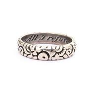 218 Silver Poesy ring   £400