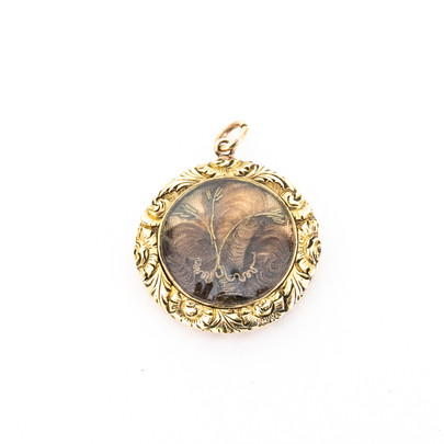 64 Hair and Gold Pendant £330