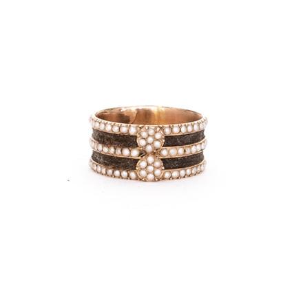 27 Rare Hair and Pearl Band Ring £1,250