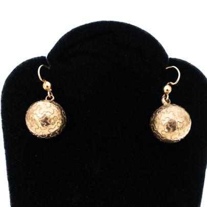243 Engraved Pinchbeck Drop Earrings£320s