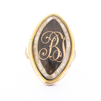 183 White Enamel Memorial Ring with Legend £1450