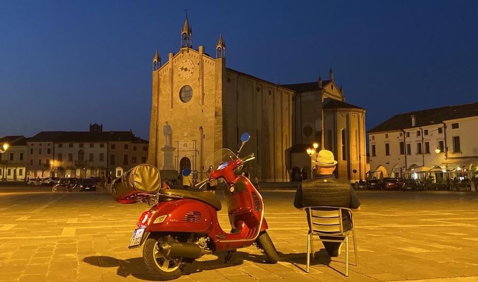 Montagnana in Veneto di notte