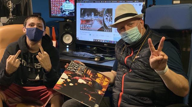 Hermann Weiskopf con il giovane rapper PIT a Montagnana in Veneto
