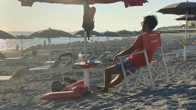 La spiaggia a Falerna Marina in Calabria