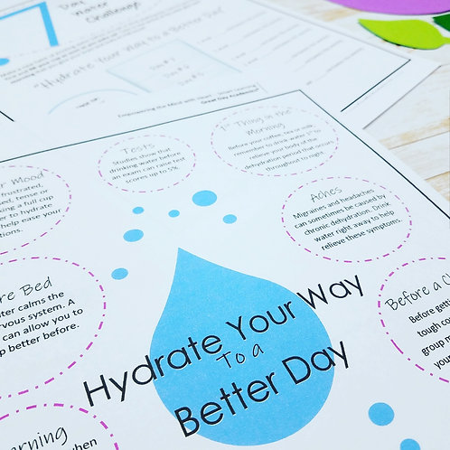HYDRATE YOUR WAY TO A BETTER DAY: Thirst Quenching Tips & Challenges for Ages 5+