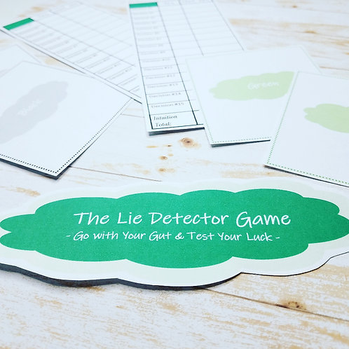 THE LIE DETECTOR: A Game of Guts for Ages 7 and Up
