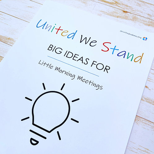 UNITED WE STAND: A Guide For Helping Kids Do Their Part For Humanity