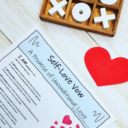 SELF-LOVE VOW: A Promise of Unconditional Love & Resilience for Big Kids