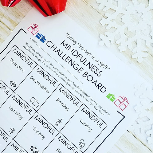 MINDFUL CHALLENGE: Practice Presence Using the Mindful Challenge Board- AGES 7+