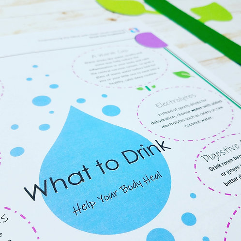 WHAT TO DRINK & WHAT TO RETHINK: An e-Article Promoting Healthy Hydrating Habits