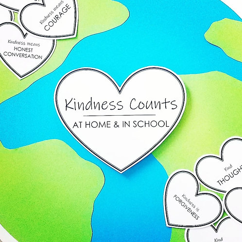 KINDNESS COUNTS BULLETIN BOARD: Decorate your space to encourage kindness!