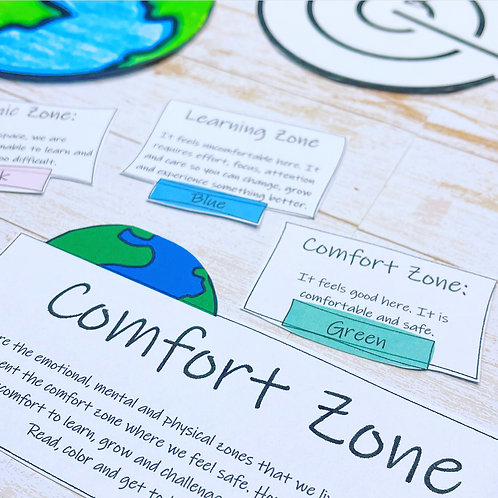 COMFORT ZONE: 14 Action Cards To Help You Learn & Grow Beyond Your Comfort Zone