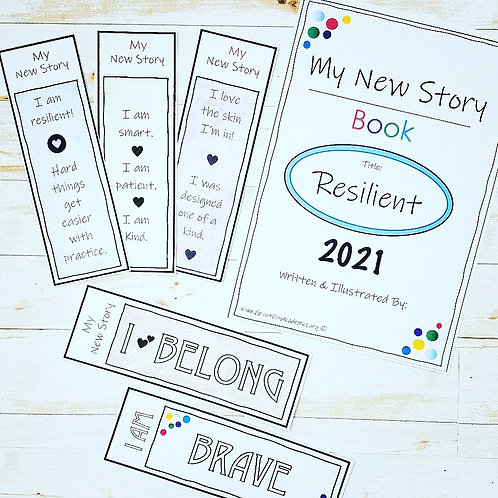 10 AFFIRMATION BOOKMARKS: Promote positive self talk w/ this coloring activity!