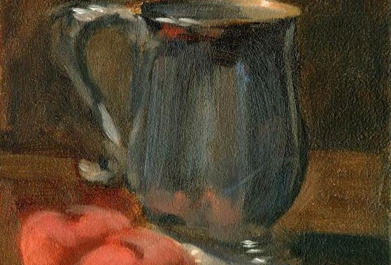 Jug with fruits