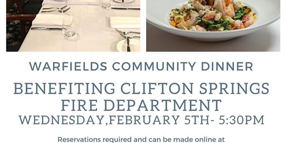 Community Dinner for Clifton Springs Fire Department