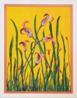 Field of Flowers on Yellow