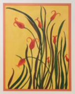 8 Field Flowers on Yellow