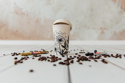 Bemalter Coffee-to-go- Becher