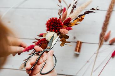 Floral Hoop mit Trockenblumen