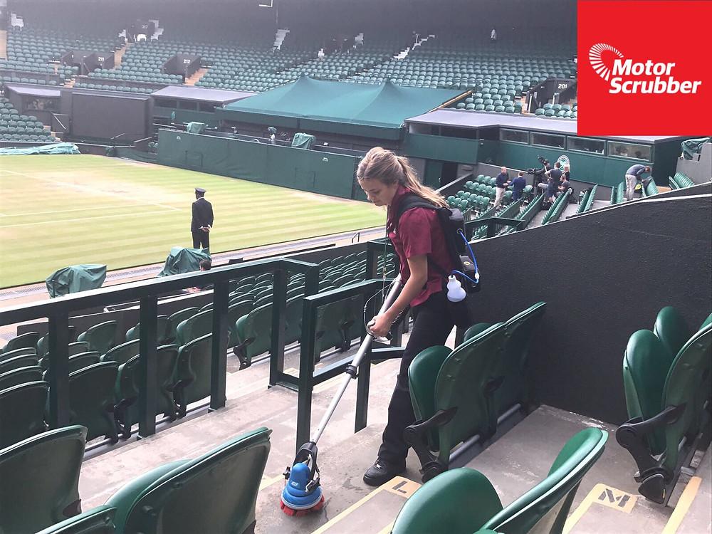 Motorscrubber JET cleaning Wimbledon Stadium