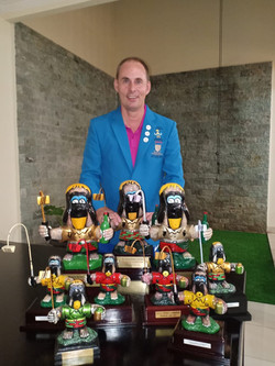 Jari with his trophies