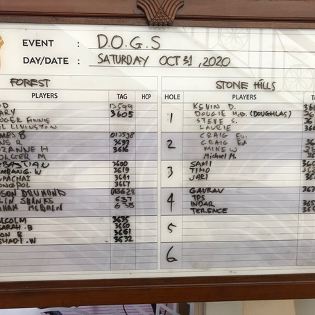 D.O.G.S. Penultimate Round at Rainbow Hills Golf Club