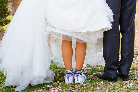 postboda novia zapatillas