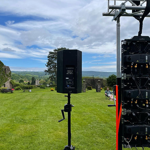 speakers set up at historic site.jpg