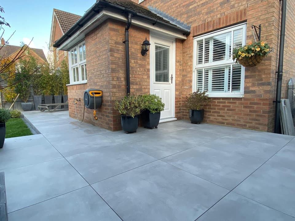 outdoor patio and back door