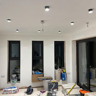 spotlights being installed in new build.jpg