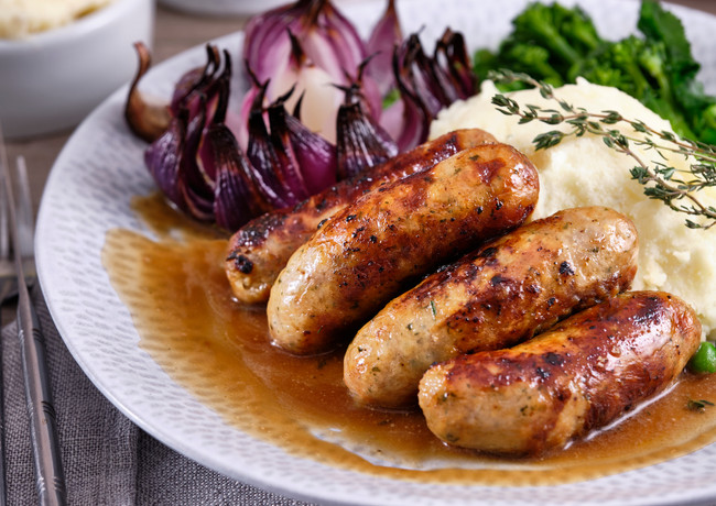 Pork & Red Onion Sausages A4 Size Files