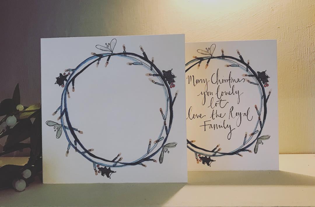 brand new 938cf 5e605 Fairy light wreath card