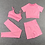 Thumbnail: 4 PCS Seamless Leggings,Short Sleeve Crop Top, Sports Bra and Sport Shorts
