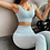 Thumbnail: 2pcs/Set Seamless Fitness Women Padded Sports Bra High Waist Sports Leggings