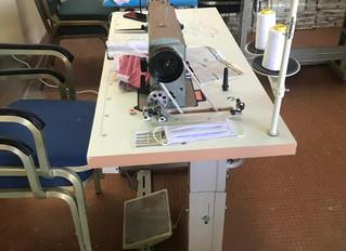 Atelier de couture à l'Hôpital Albert Royer