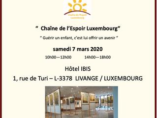 Juliane Kridel vend ses tableaux au profit de Chaîne de l'Espoir Luxembourg.