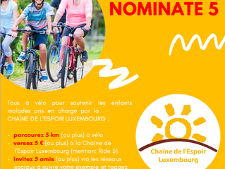 RIDE 5, GIVE 5, NOMINATE 5