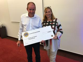 Merci au Lions Club Luxembourg Amitié et au Lions Club Arlon pour leur soutien