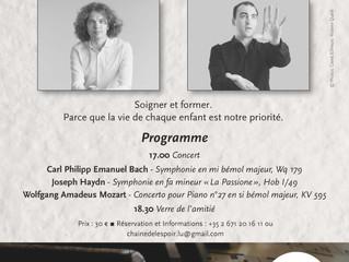 26/03/2017: Concert classique au profit de Chaîne de l'Espoir Luxembourg