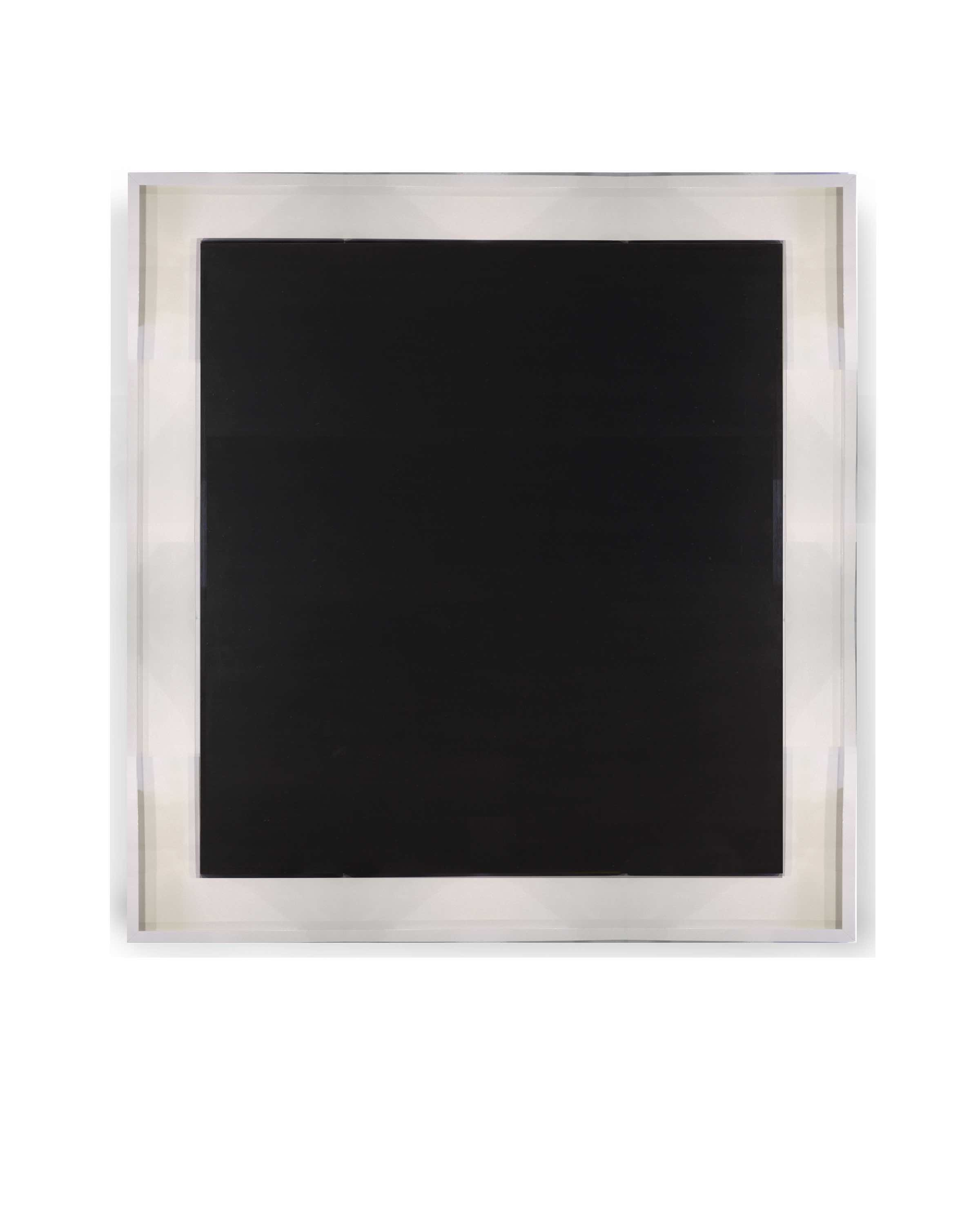 Wide painted White float frame mck