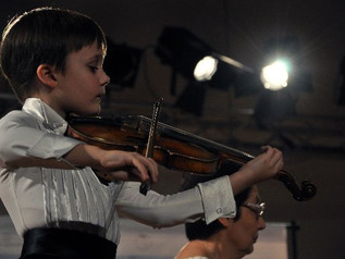 The winners of the 9th International Balys Dvarionas Young Pianists and Violinists Contest group A a