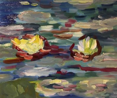Impressionisme inspiratie Monet, 25x25 olieverf