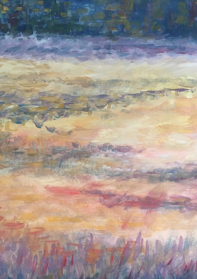 Heideveld Twickel, 60x50 olieverf op papier