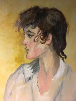 Impressionisme inspiratie Isaac Israëls, 90x70 olieverf