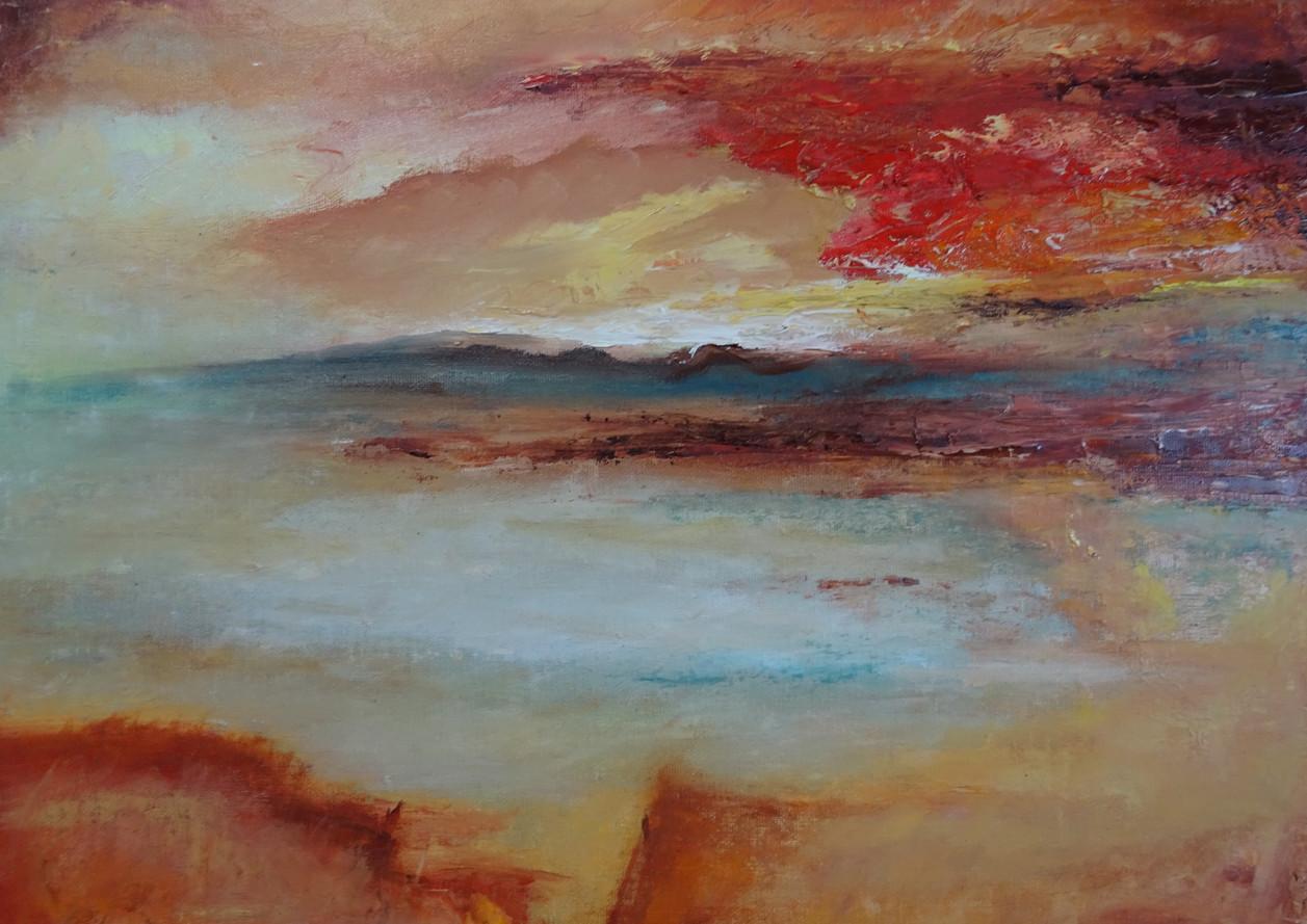 Inspiratie Turner, 40x30 olieverf