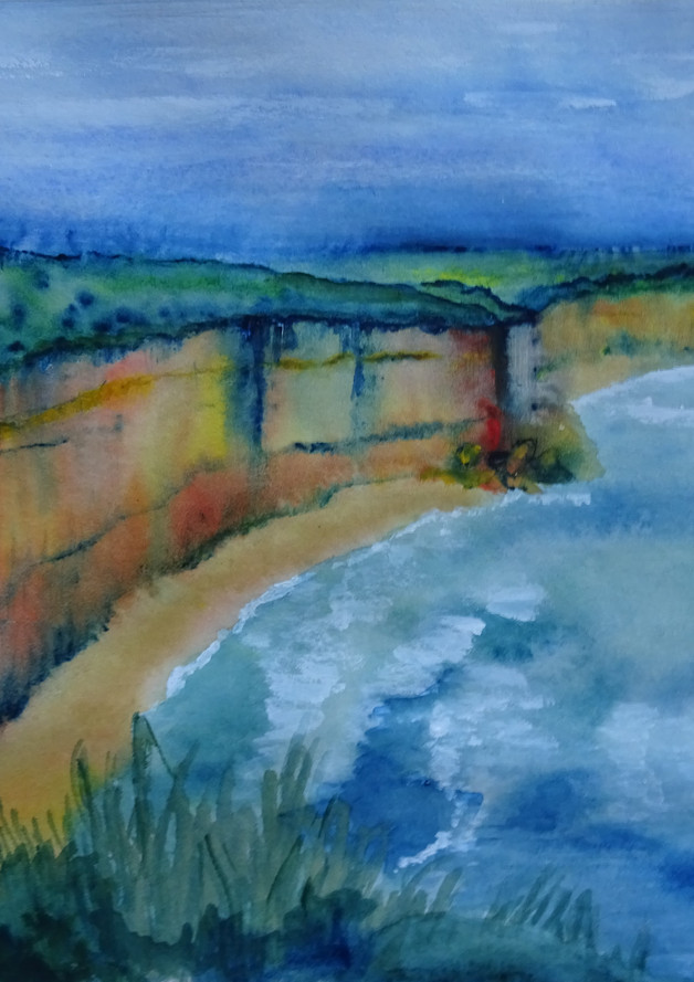 Great Ocean Road, 30x25 aquarel