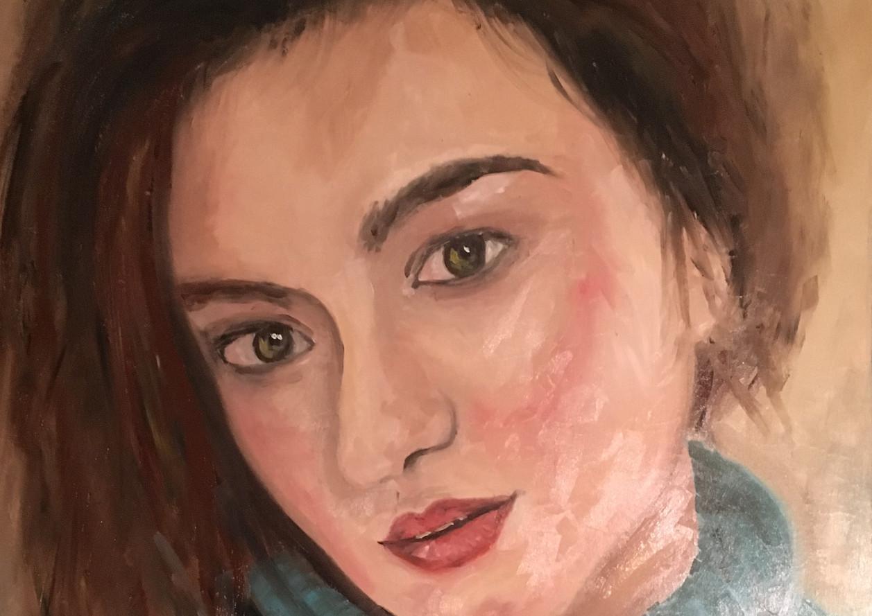 Portret, 70x45 olieverf