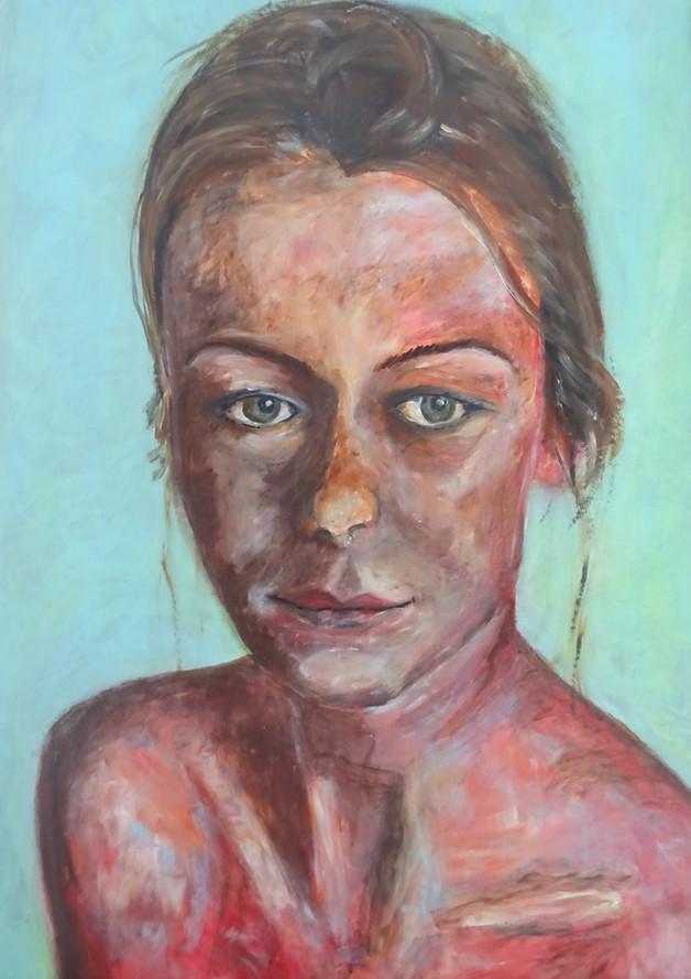 Portret, 60x45, acryl
