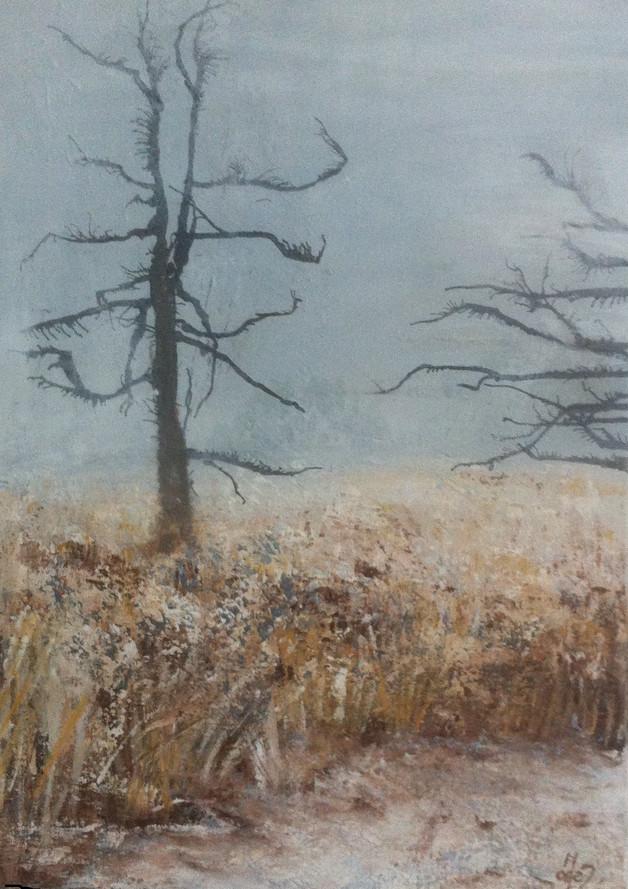 Winter 70x50 acryl, verkocht
