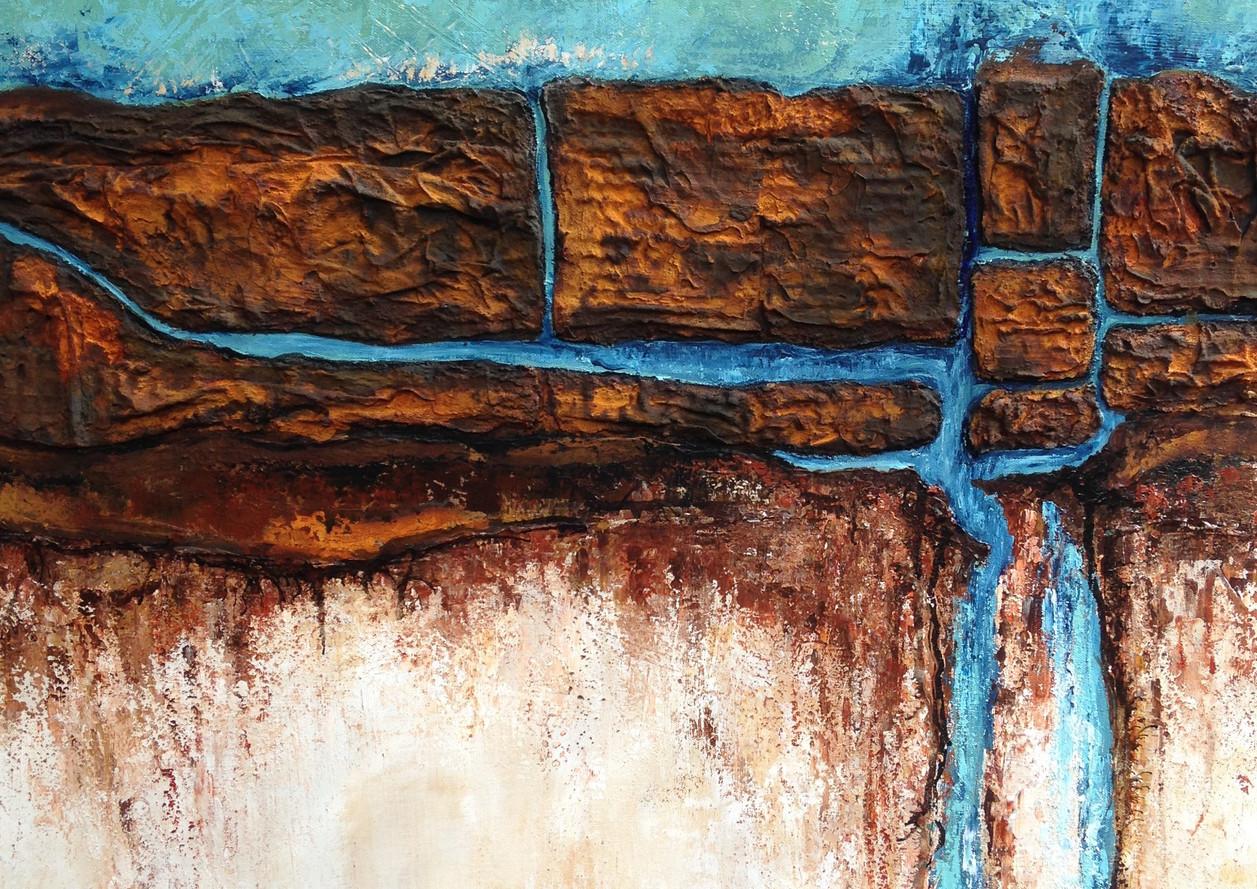 Tweeluik 70x70 acryl, mixed media, verkocht